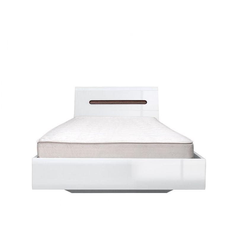 Кровать с основанием AZTECA  (Ацтека) LOZ90x200 Белый блеск