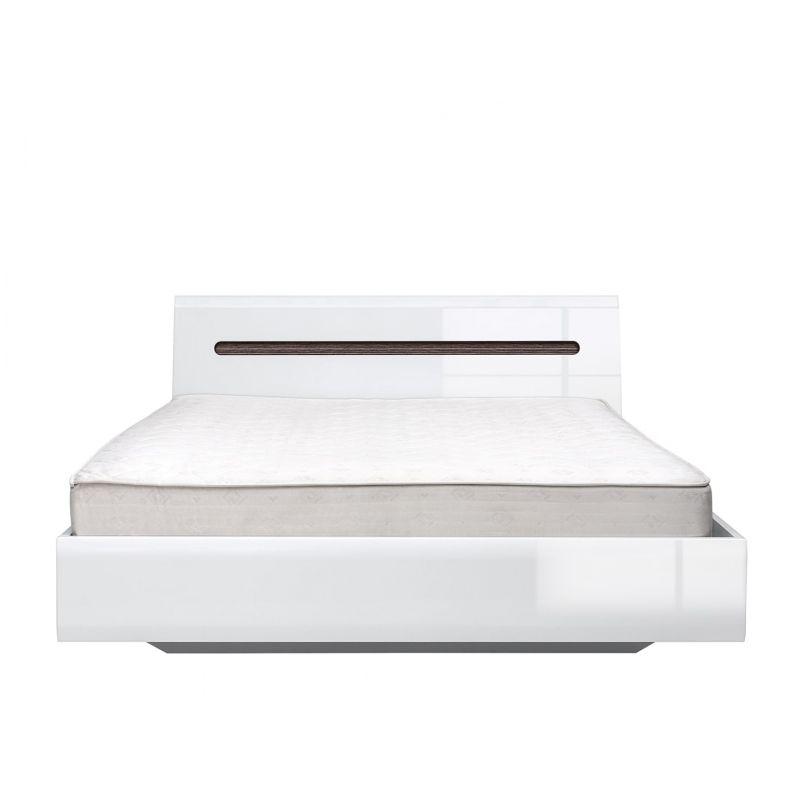 Кровать с мет. основанием AZTECA (Ацтека) LOZ160x200 Белый глянец