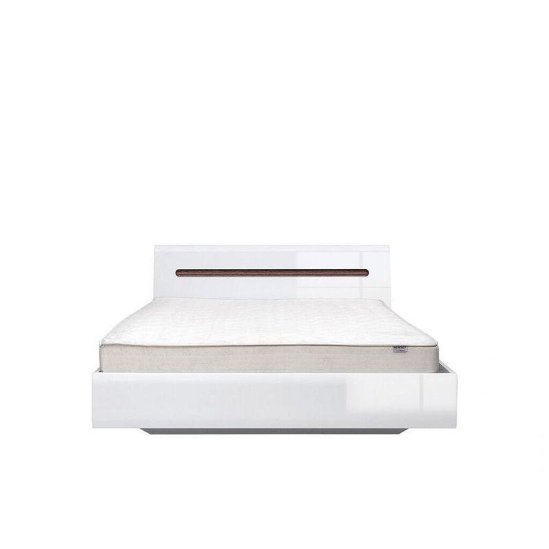 Кровать с мет. основанием AZTECA LOZ140x200 Белый глянец