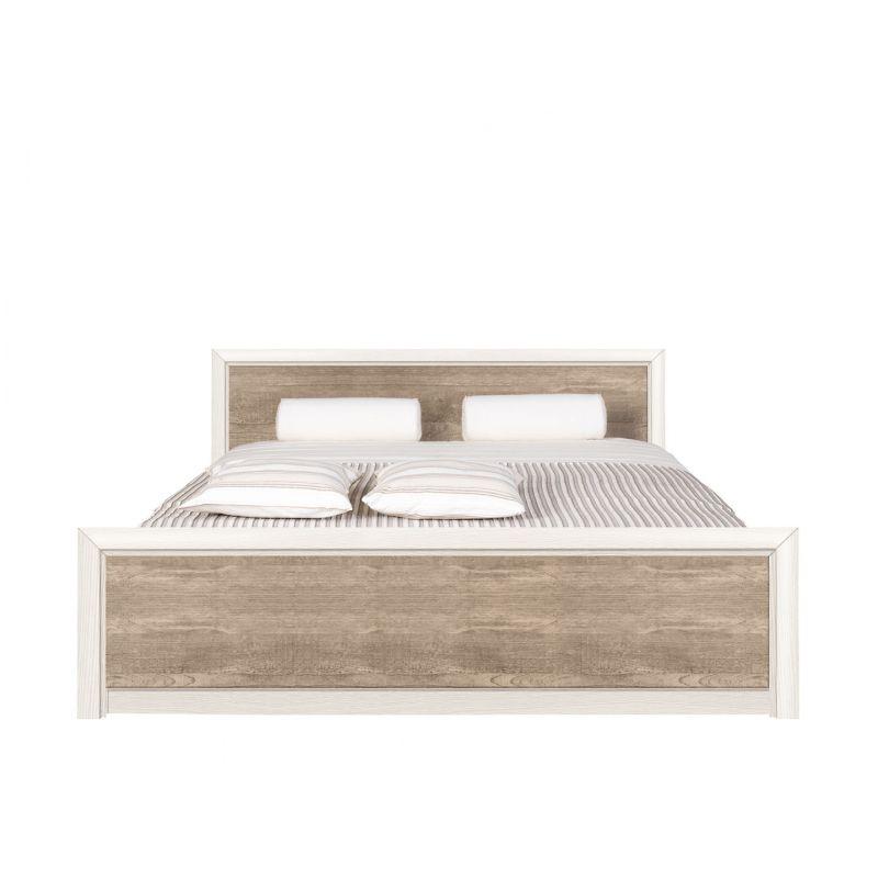 Кровать с металл. основанием КОЕН LOZ180х200 Ясень снежный/Сосна натуральная
