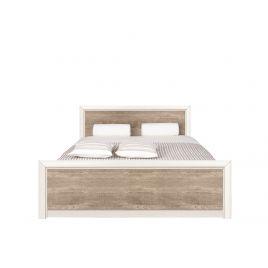 Кровать с металл. основанием КОЕН LOZ140х200 Ясень снежный/Сосна натуральная