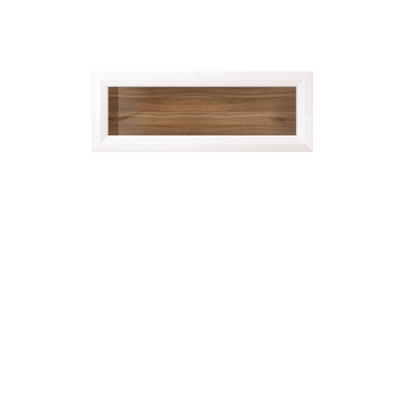 Полка со стеклом MALTA SFW1W/11 Лиственница сибирская / орех лион