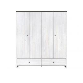 Шкаф распашной для спальни и гостиной ПОРТО SZF4D2S Джанни / сосна ларико