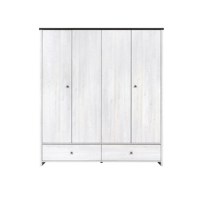 Шкаф распашной для спальни и гостиной ПОРТО SZF4D2S с полками Джанни / сосна ларико