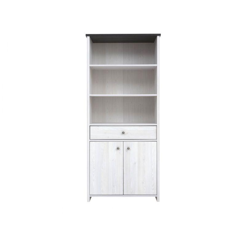 Шкаф комбинированный для спальни и гостиной ПОРТО REG2D1S Джанни / сосна ларико