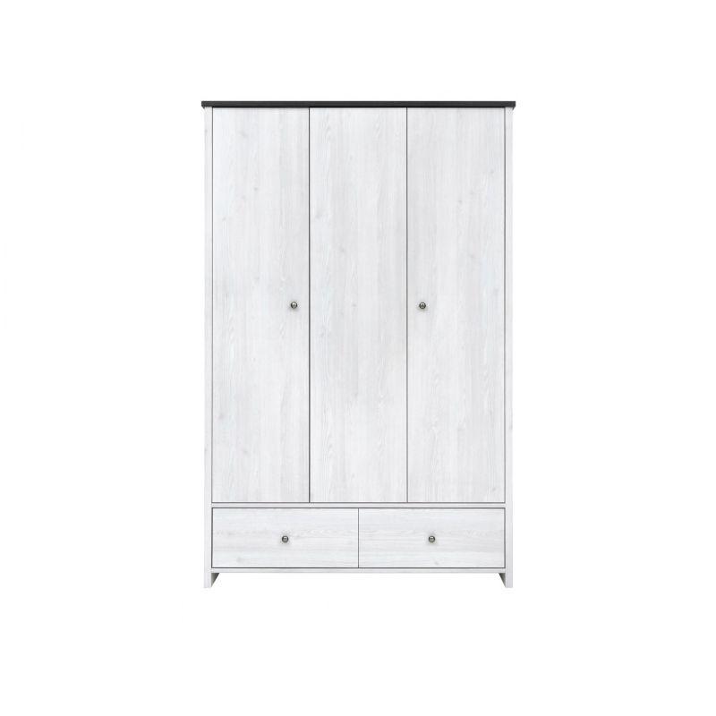 Шкаф распашной для спальни и гостиной ПОРТО SZF3D2S Джанни / сосна ларико