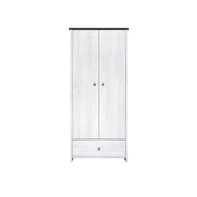 Шкаф распашной для спальни и гостиной ПОРТО SZF2D1S Джанни / сосна ларико