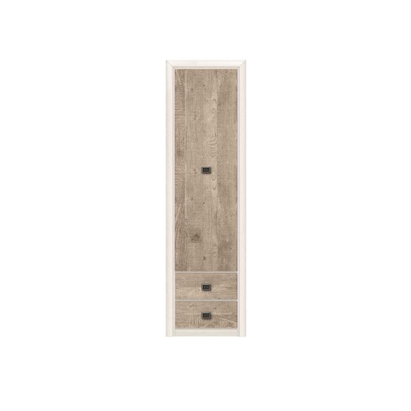 Шкаф - пенал распашной Коен REG1D2S Ясень снежный/Сосна натуральная