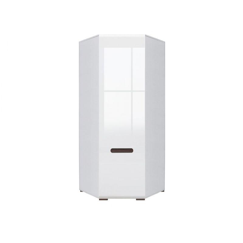 Шкаф угловой распашной AZTECA (Ацтека) N1D/21/10 Белый глянец для спальни