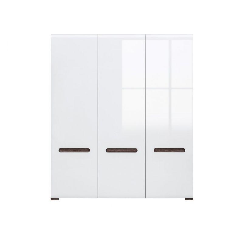 Шкаф распашной для спальни и гостиной AZTECA (Ацтека) 3D/21/18 Белый глянец