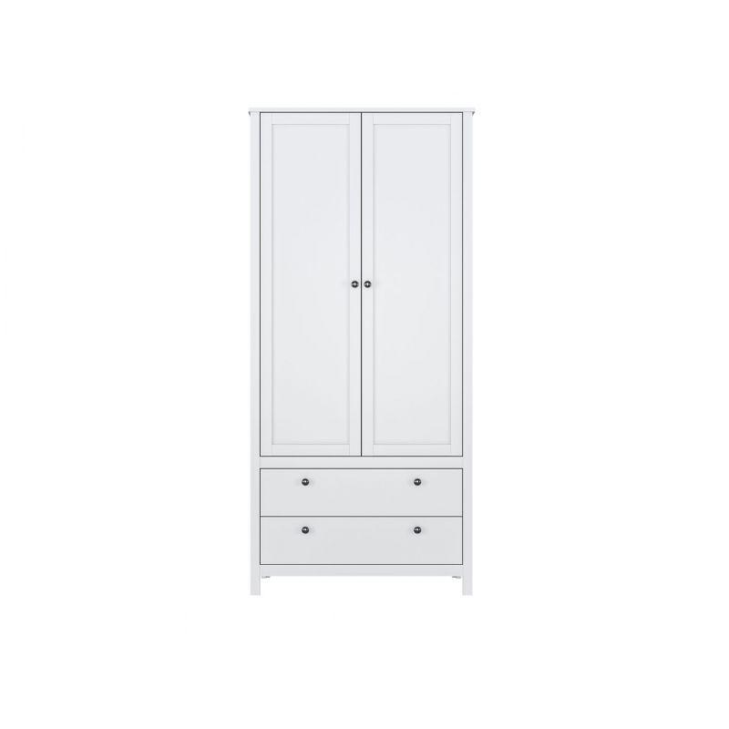 Шкаф распашной для спальни и гостиной HELGA SZF2D2S/90 Белый
