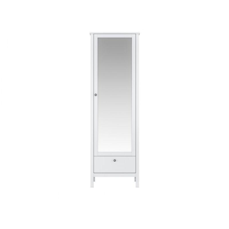 Шкаф распашной с зеркалом HELGA SZF1W1S/60 Белый