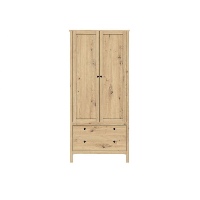Шкаф распашной для спальни и гостиной HELGA SZF2D2S/90 Дуб артизан