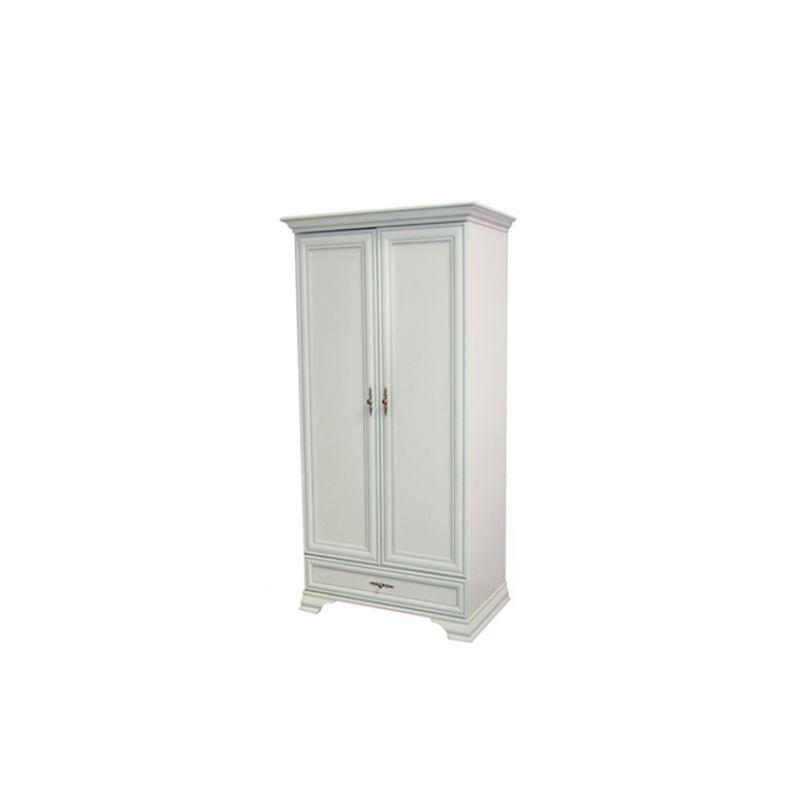 Шкаф распашной для спальни и прихожей KENTAKI ( Кентаки ) SZF 2D1S Белый