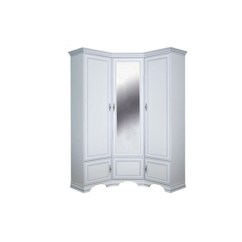 Шкаф угловой распашной для спальни и прихожей KENTAKI ( Кентаки ) SZFN5D Белый