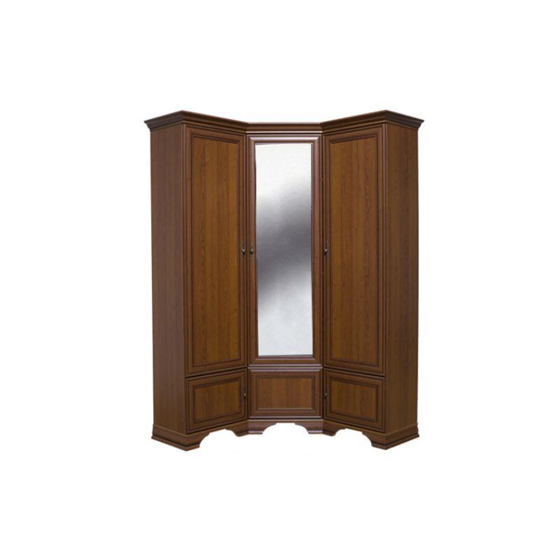 Шкаф угловой распашной для спальни и прихожей KENTAKI SZFN5D Каштан