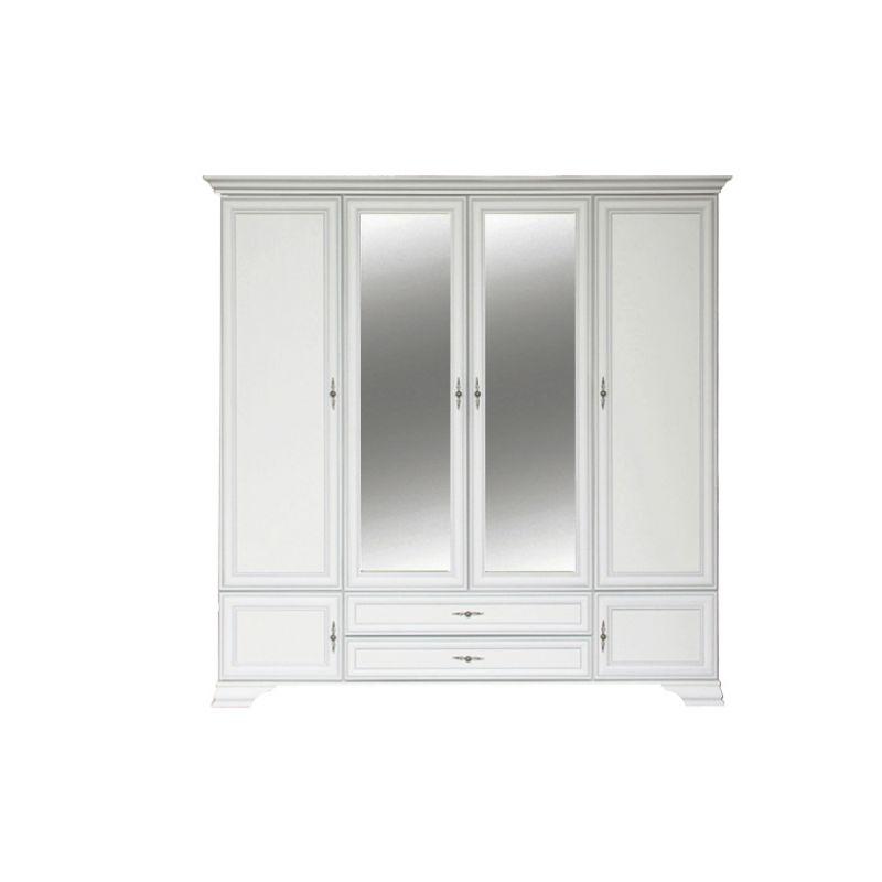 Шкаф распашной для спальни и гостиной KENTAKI ( Кентаки ) SZF6D2S Белый