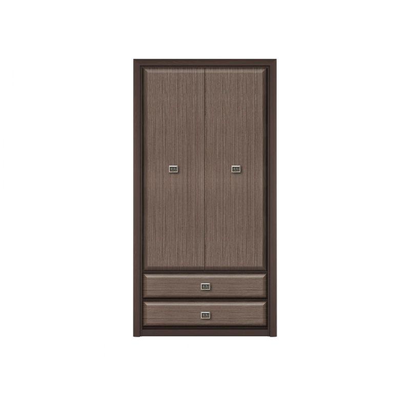 Шкаф распашной Коен SZF2D2S Венге/Штрокс для спальни и прихожей