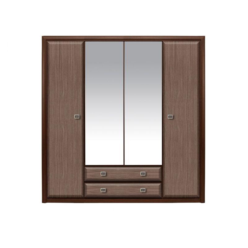Шкаф распашной для спальни и прихожей Коен 4D2S Венге/Штрокс