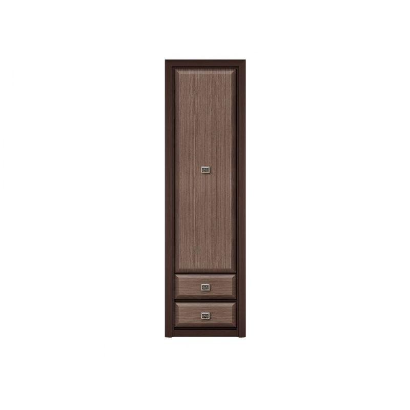 Шкаф - пенал распашной Коен 1D2S Венге/Штрокс темный для спальни и гостиной