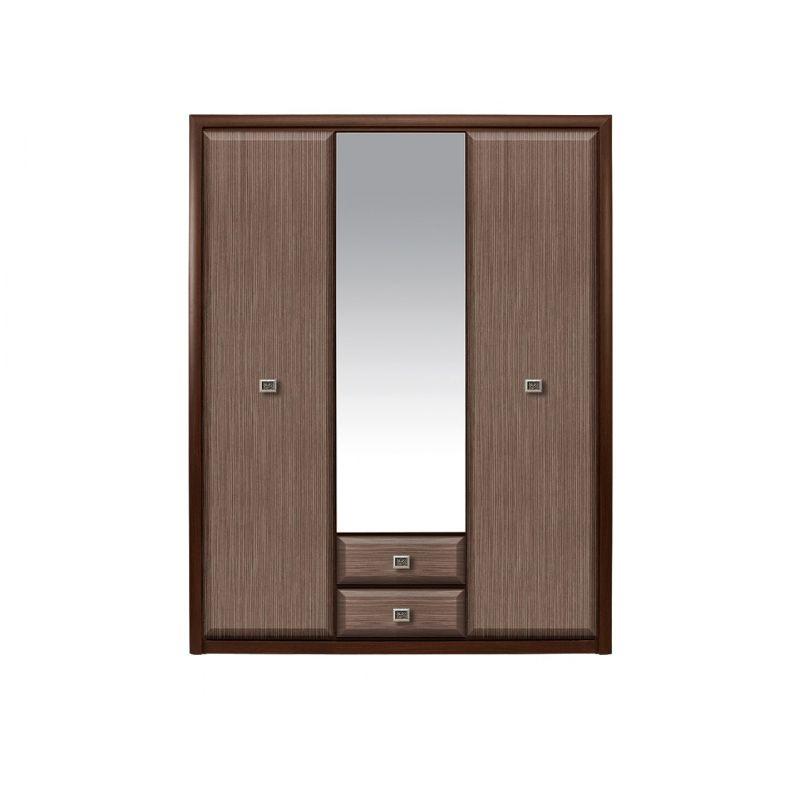 Шкаф Коен распашной для спальни и гостиной 3D2S Венге/Штрокс