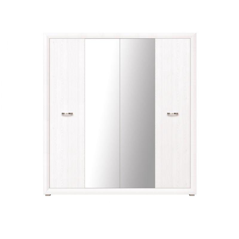 Шкаф распашной для спальни и гостиной MALTA SZF4D Лиственница сибирская / орех лион