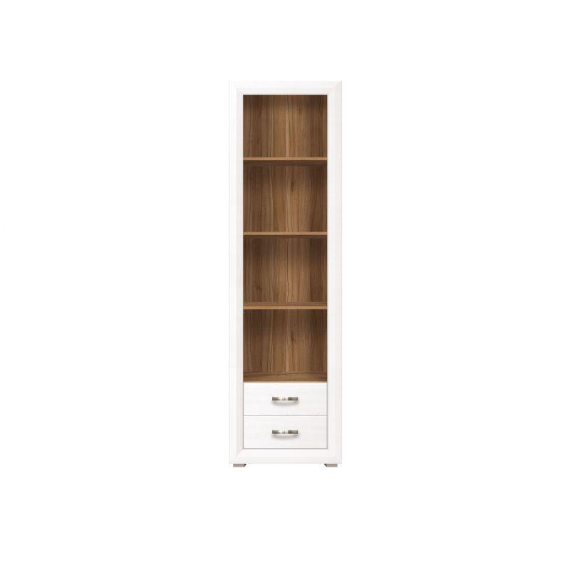 Шкаф открытый для спальни и гостиной MALTA REG2S Лиственница сибирская / орех лион