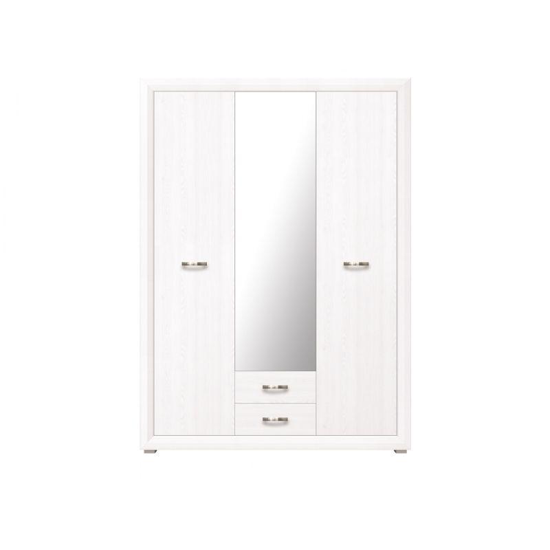 Шкаф распашной для спальни и гостиной MALTA SZF3D2S Лиственница сибирская / орех лион