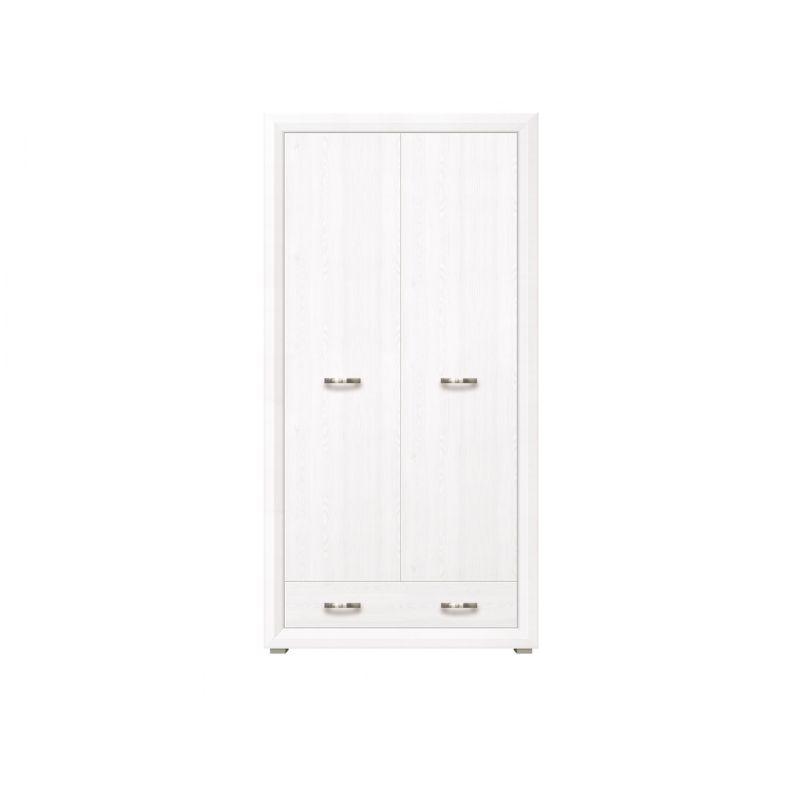 Шкаф распашной для спальни и гостиной MALTA SZF2D1S Лиственница сибирская / орех лион