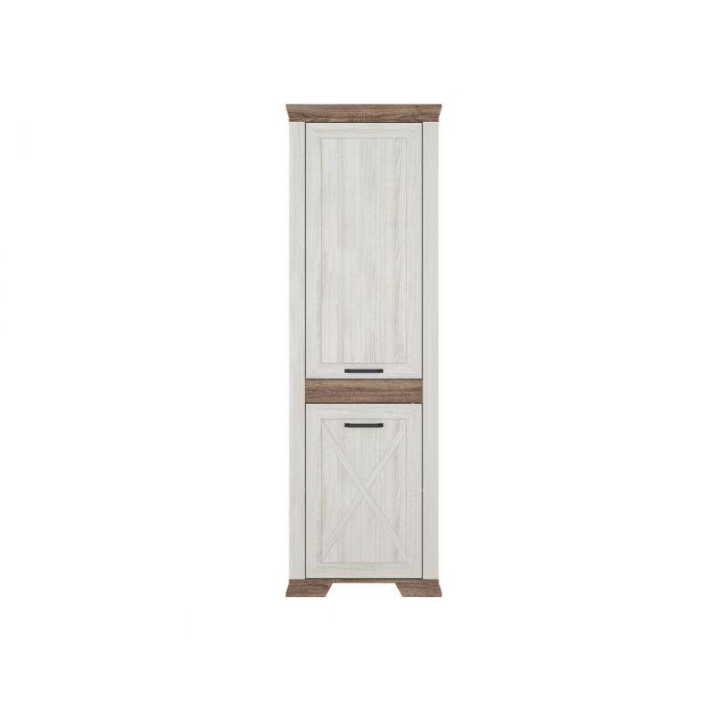 Шкаф распашной для спальни и гостиной MARSELLE REG2D L Ясень снежный/Дуб