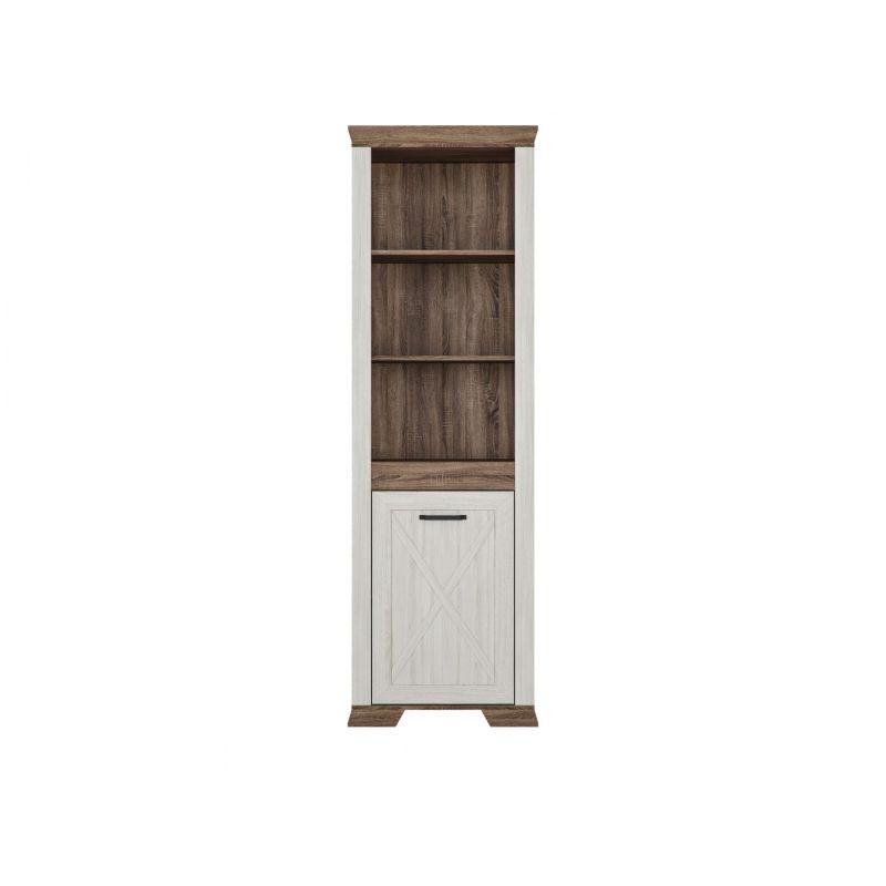 Шкаф распашной для спальни и гостиной MARSELLE (Марсель) REG1D P Ясень снежный/Дуб