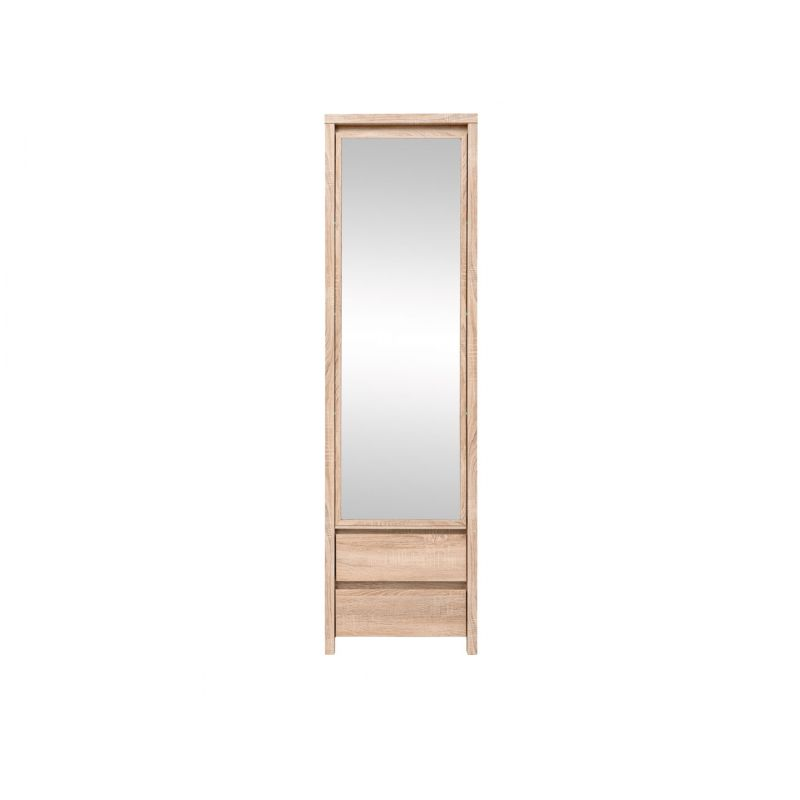 Шкаф платяной распашной для спальни и гостиной КАСПИАН SZF1D2SP Дуб сонома