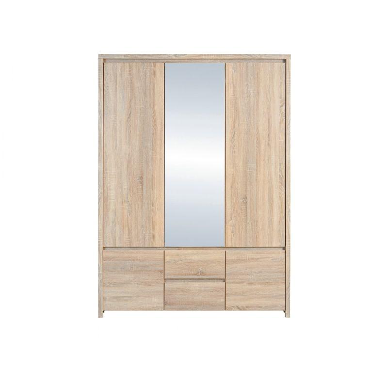 Шкаф платяной распашной для спальни и гостиной КАСПИАН SZF5D2S  Дуб сонома