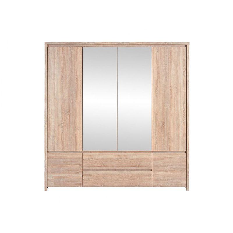 Шкаф платяной распашной для спальни и гостиной КАСПИАН SZF6D2S  Дуб сонома