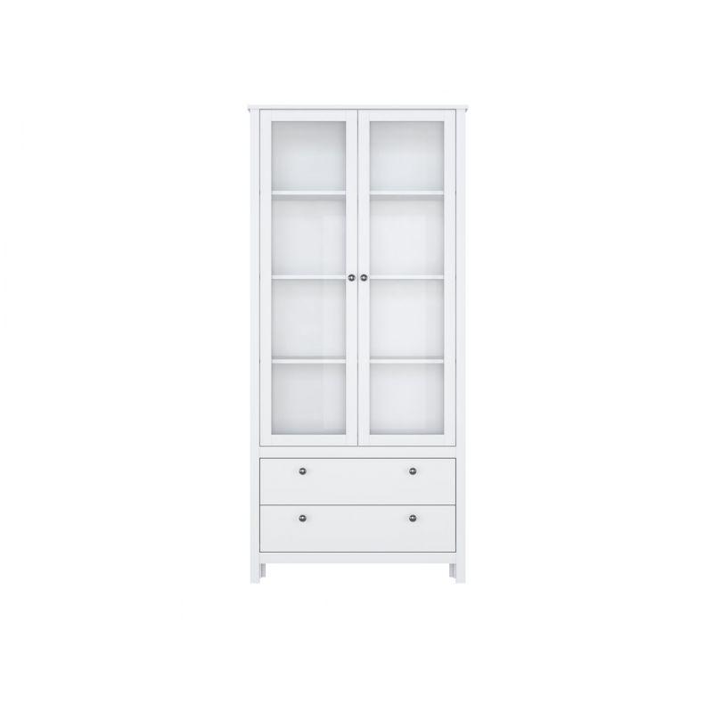 Витрина шкаф для гостиной HELGA REG2W2S Белый