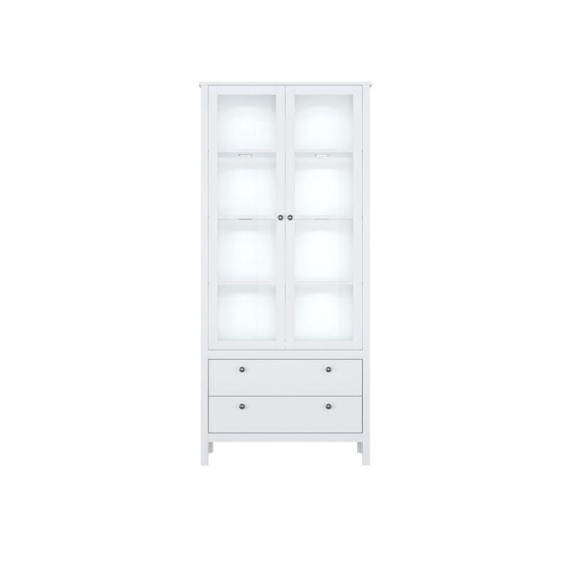 Витрина шкаф с подсветкой HELGA REG2W2S Белый