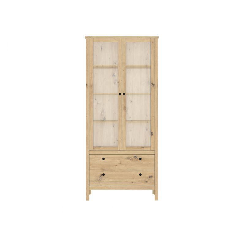 Витрина шкаф для гостиной HELGA REG2W2S Дуб артизан