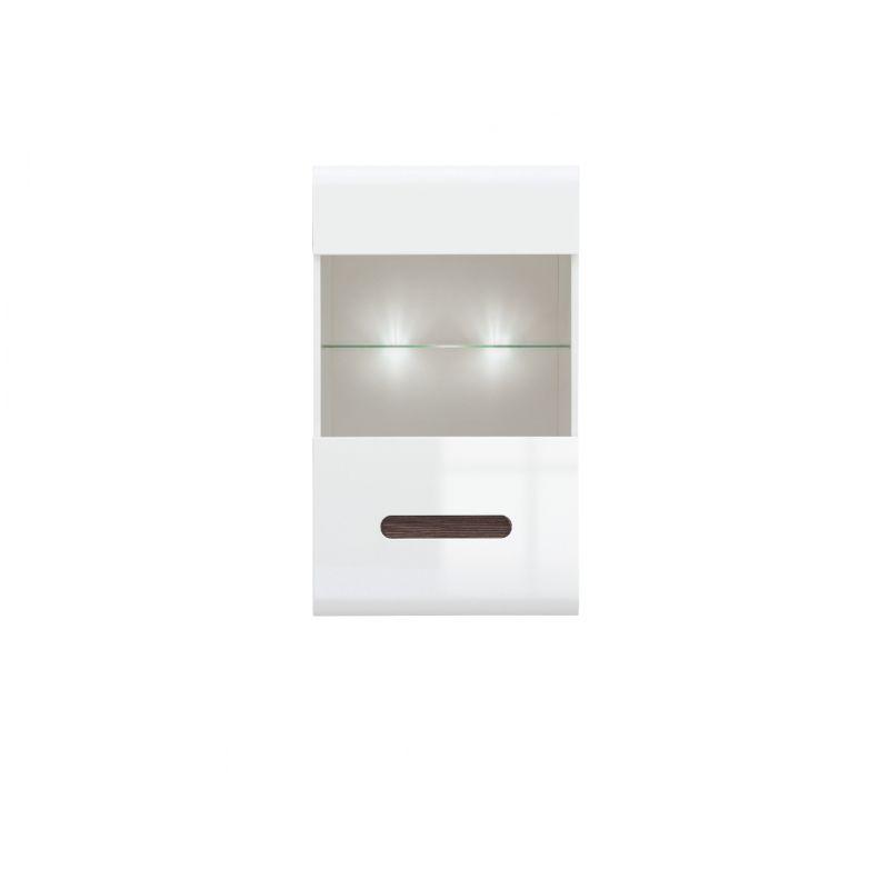 Витрина навесная для гостиной AZTECA (Ацтека) SFW1W/10/6 Белый глянец