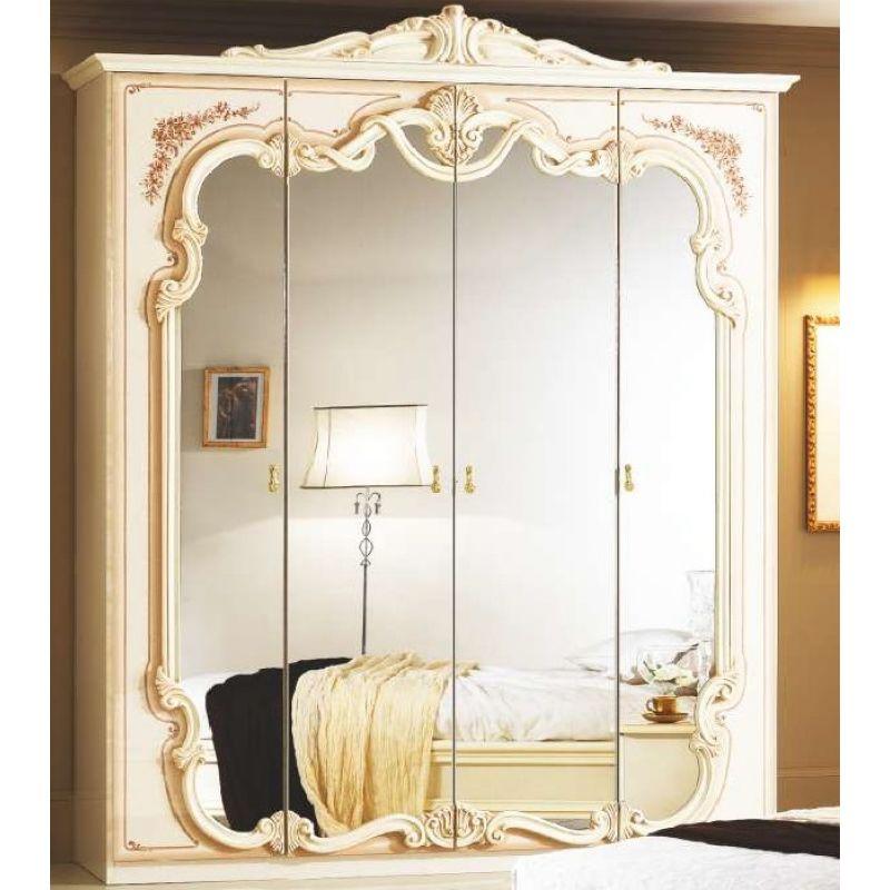 Шкаф 4-х дверный распашной для спальни «Диана» Беж