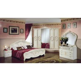Спальный гарнитур 6-ти дверный «Роза» беж