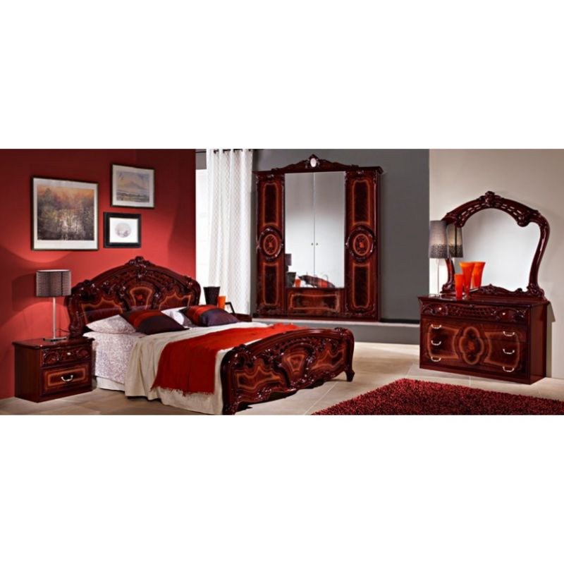 Спальный гарнитур 4-х дверный «Роза» Могано