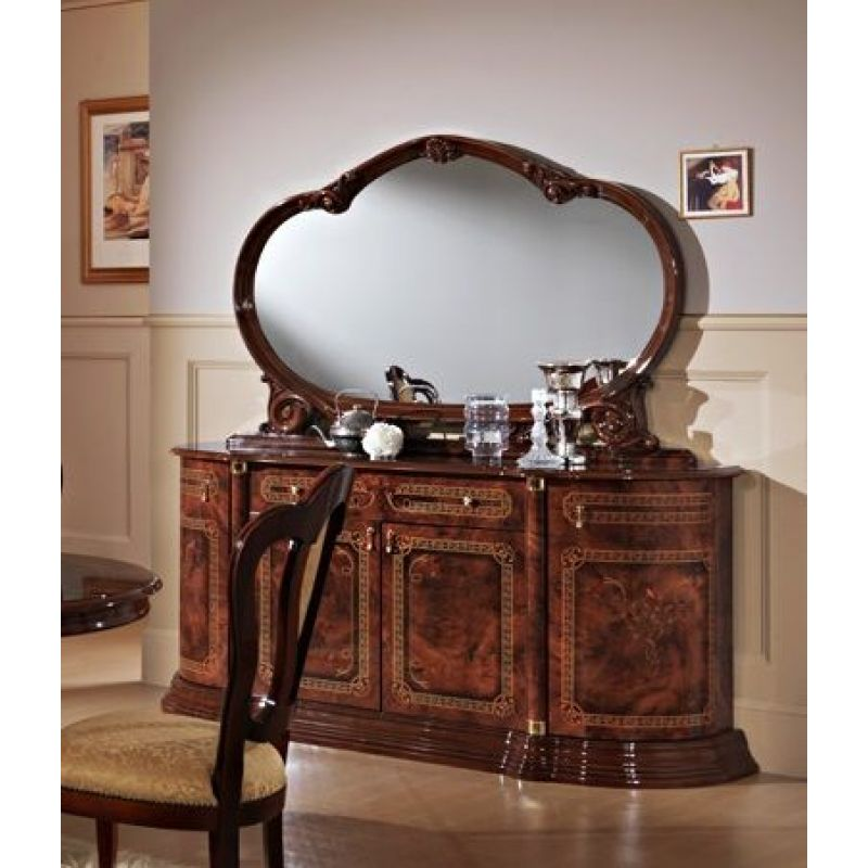 Комод (буфет) с зеркалом «Роза» орех