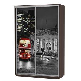 Шкаф-купе платяной Хит Фото Лондон венге