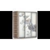 Шкаф-купе Трио Орхидея 180_60_220 Дуб молочный