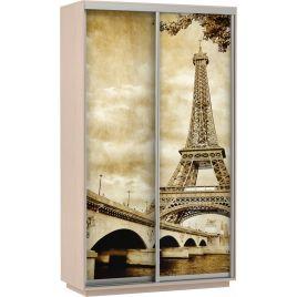 Шкаф-купе Хит Фото Париж дуб молочный