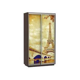 Шкаф-купе платяной Хит Фото Париж венге
