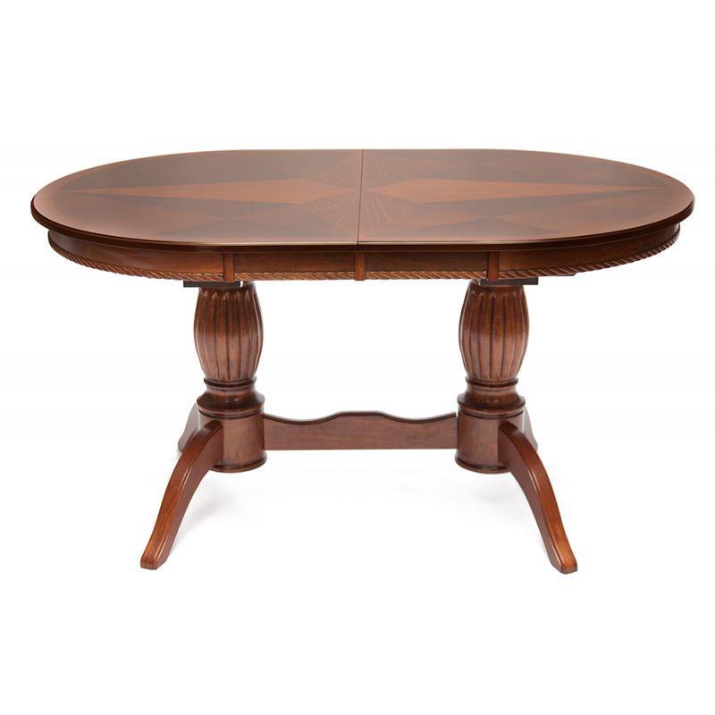 Стол обеденный деревянный раскладной Mercury Коричневый в рыжину