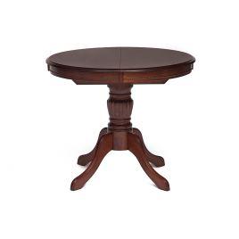 Стол обеденный деревянный раскладной Olivia Коричневый в рыжину
