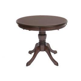 Стол обеденный деревянный раскладной Olivia Тобакко (темный орех)