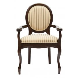 Стул-кресло деревянное для гостинной Fiona Тобакко(Темный орех)